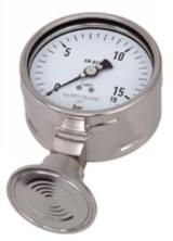 MANOMETRE INOX SUR SEPARATEUR ALIMENTAIRE CLAMP